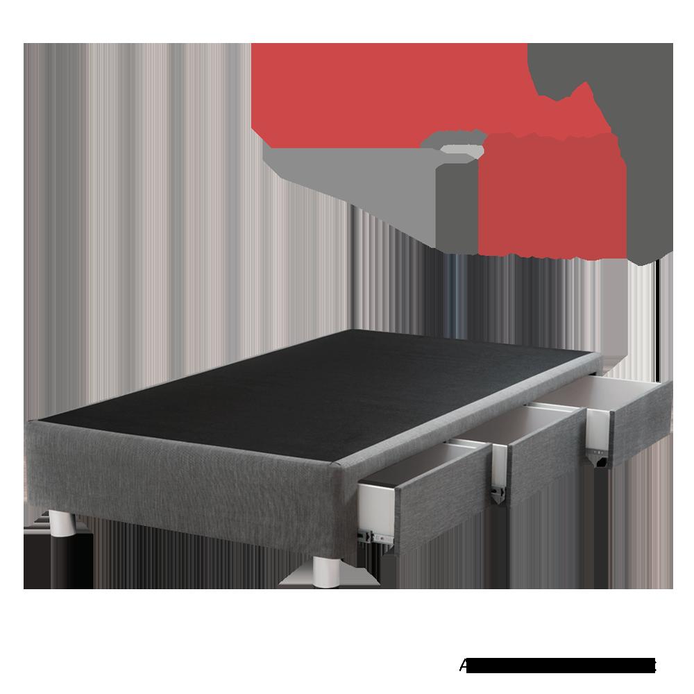 BOX TARIMA SMART  - 1.5 PLAZA - Gris - CON CAJONES